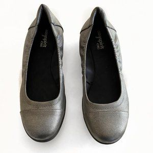 EASY SPIRIT E360 Ladies Flats PEWTER Size 10